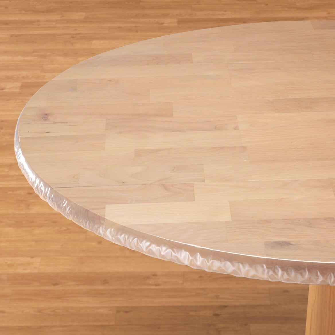 Clear Vinyl Elasticized Table Cover-344625