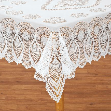 Vinyl Lace Tablecloth-344657