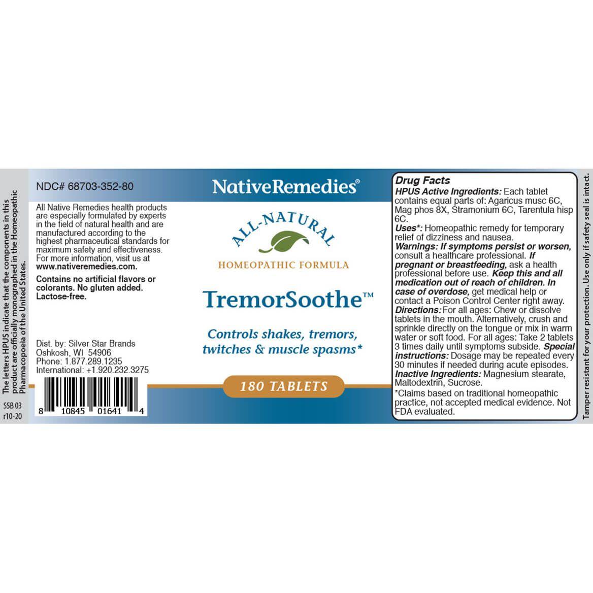 NativeRemedies® TremorSoothe™ Tablets-345001