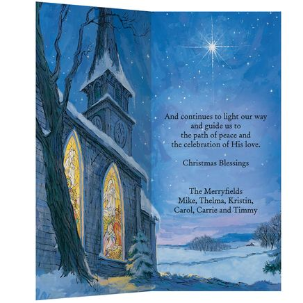 Personalized The Star Still Shines Christmas Card Set of 20-345826