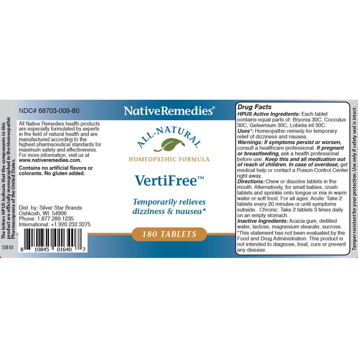 NativeRemedies® VertiFree™ Tablets-346105