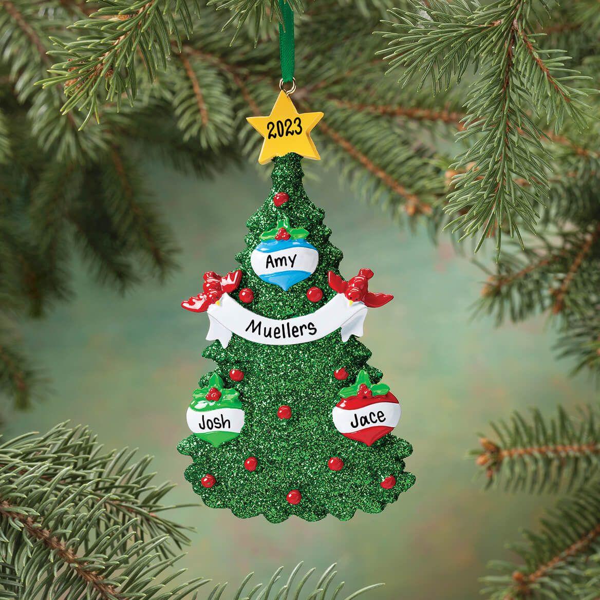 Personalized Glitter Tree Ornament-346137