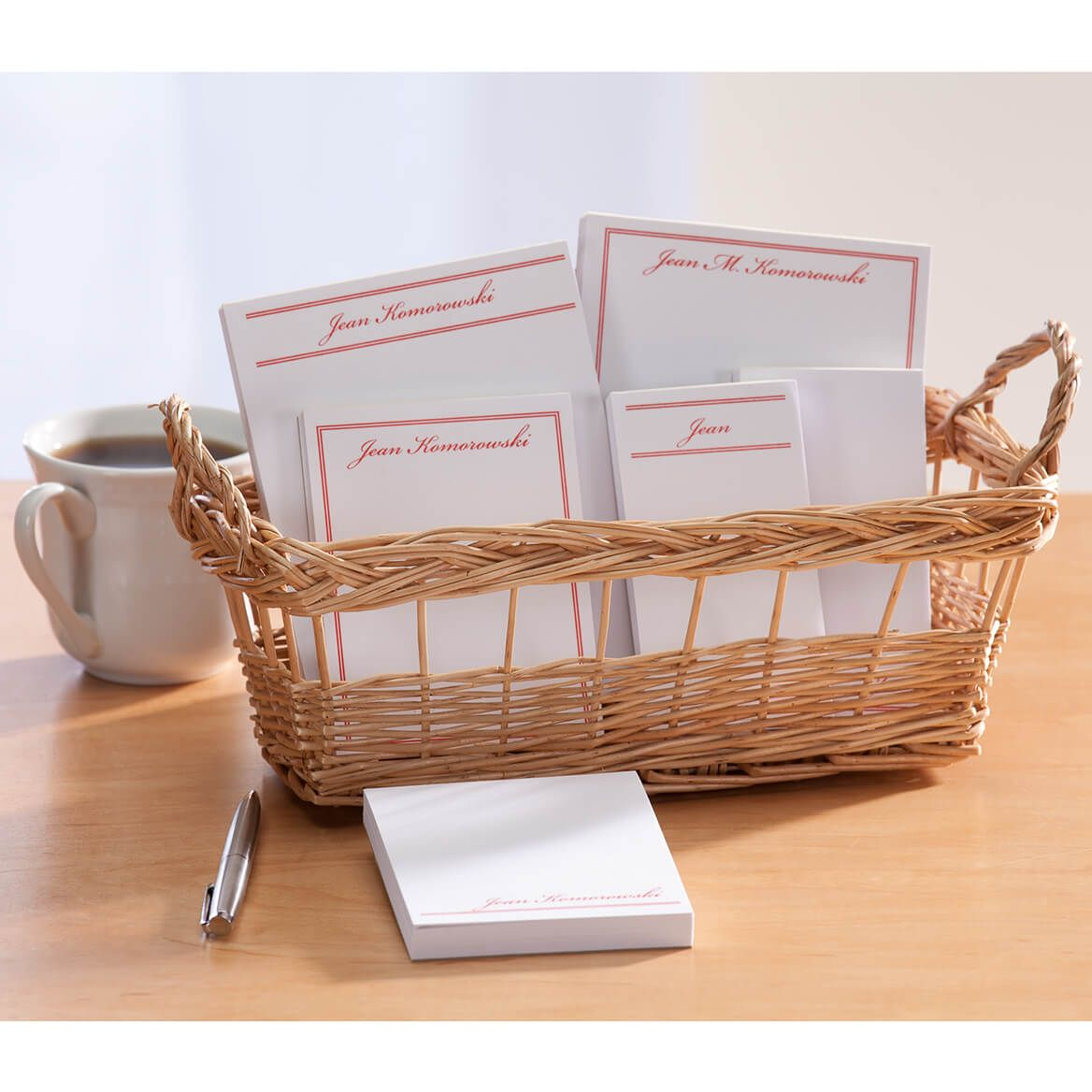Personalized Classic Basketful of Notepads-346377