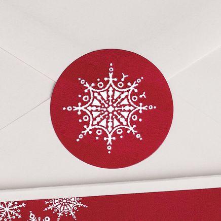 Red Snowflake Seals Set of 250-346825