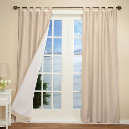 Energy Saving Tab Top Curtain Panels - Set of 2-347012
