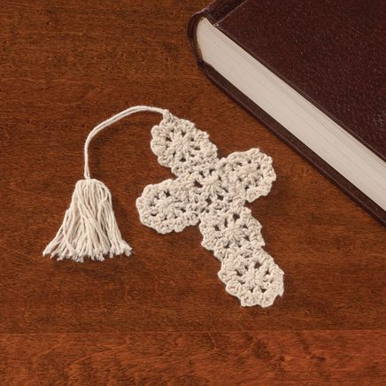 Crocheted Cross Bookmarks - Set of 10-347380
