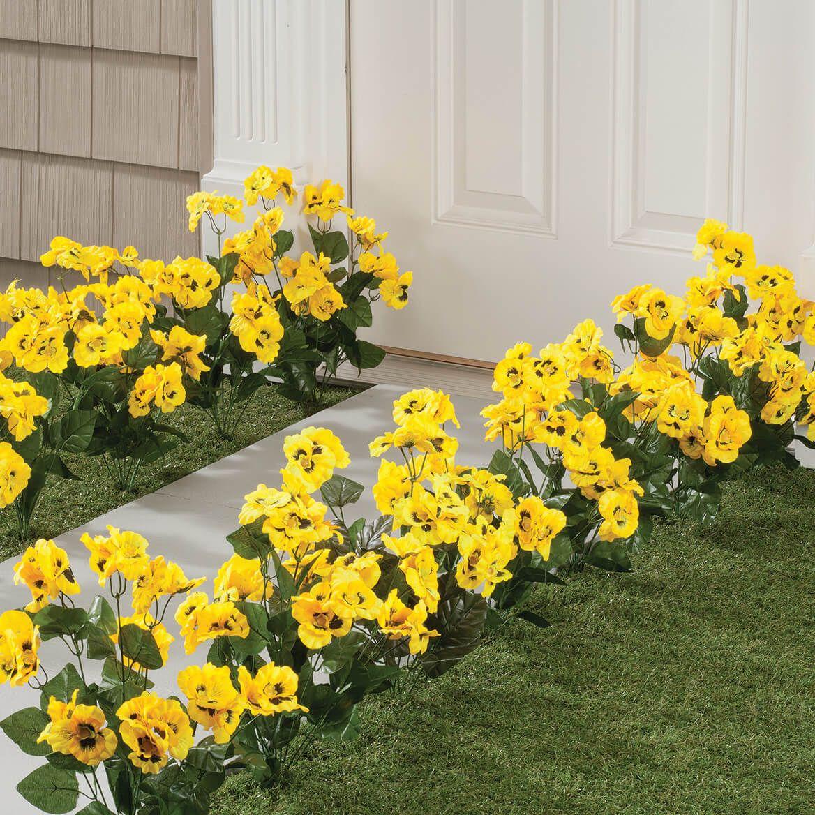 All-Weather Yellow Pansy Bush by OakRidge™-348131