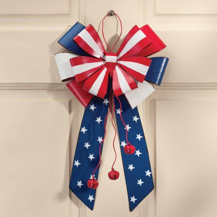 Patriotic Metal Bow Door Hanger by Fox River™ Creations-348240