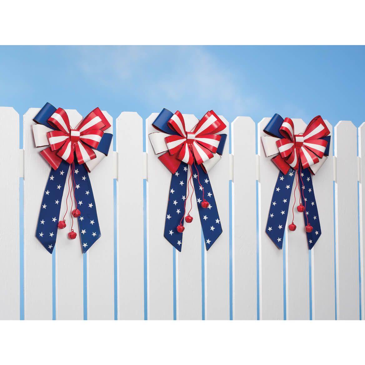 Patriotic Metal Bow Door Hanger by Fox River Creations™-348240