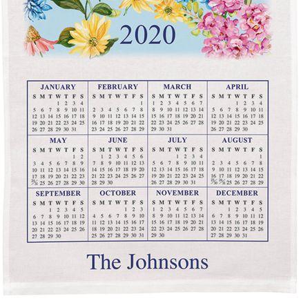 Personalized Butterfly Garden Calendar Towel-349417