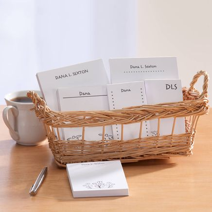 Personalized Notepad Flower Basket-349457