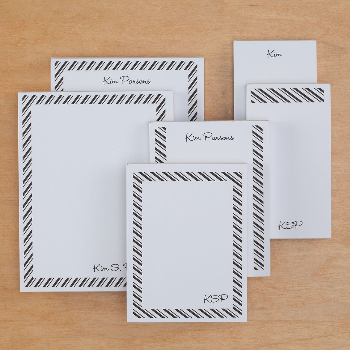 Personalized Diagonal Stripes Notepads Refill Set of 6-349460