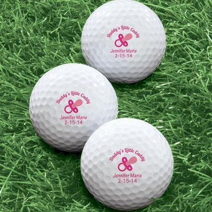 Personalized Daddy's Little Caddy Golf Balls, Set of 6-349744