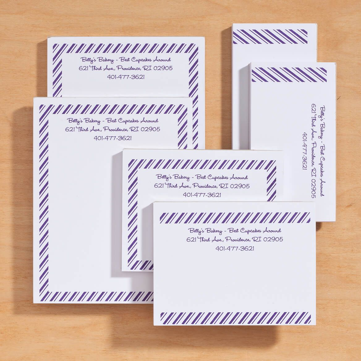Personalized Diagonal Stripes Business Notepads Refill Set of 6-350383