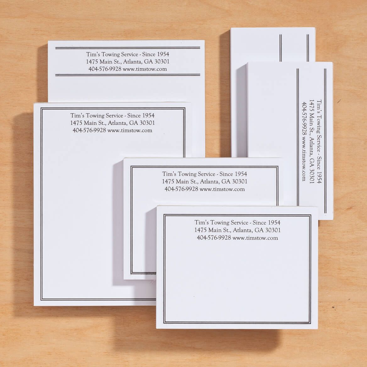 Personalized Classic Business Notepads Refill Set of 6-350387