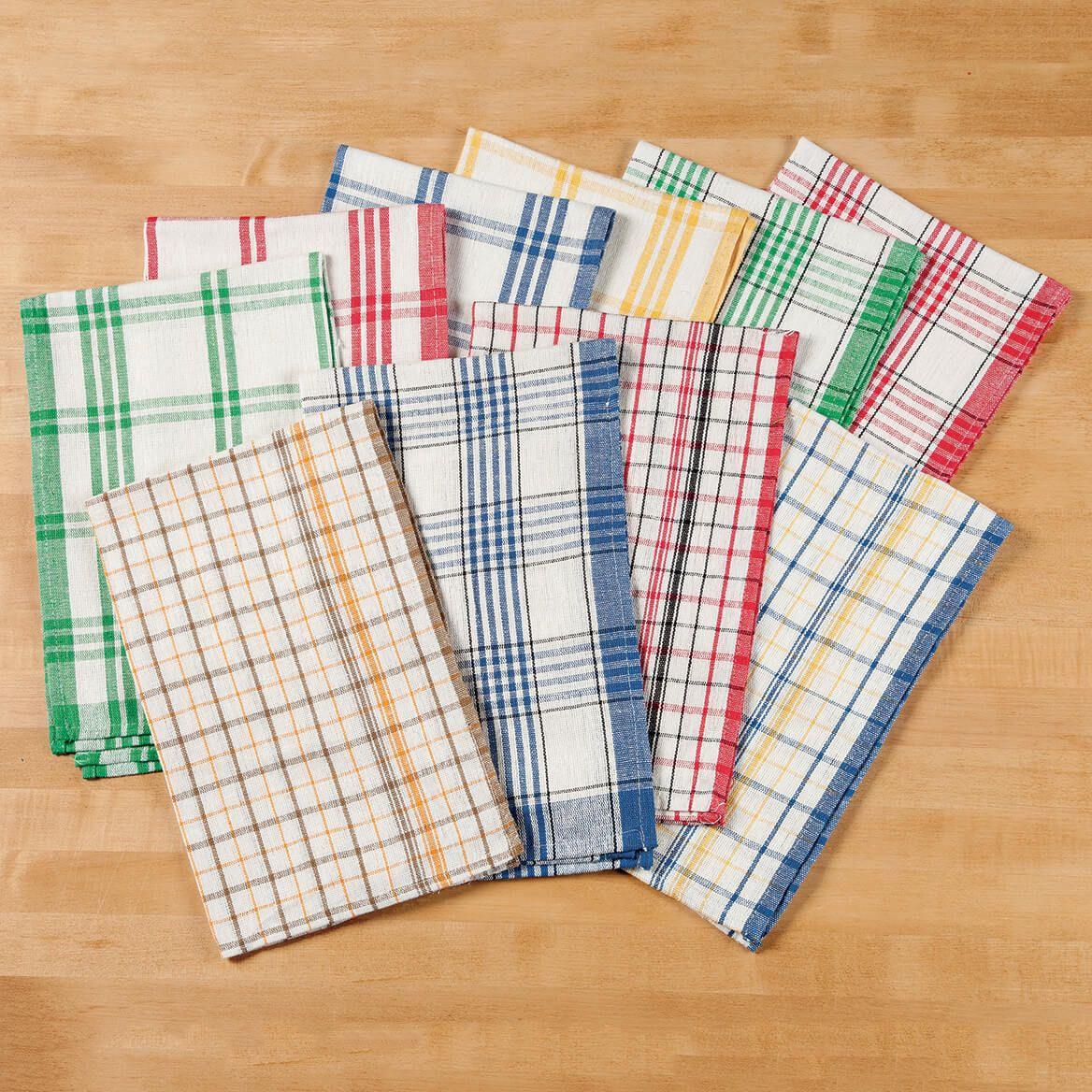 Plaid Kitchen Towels - Set of 10-350528