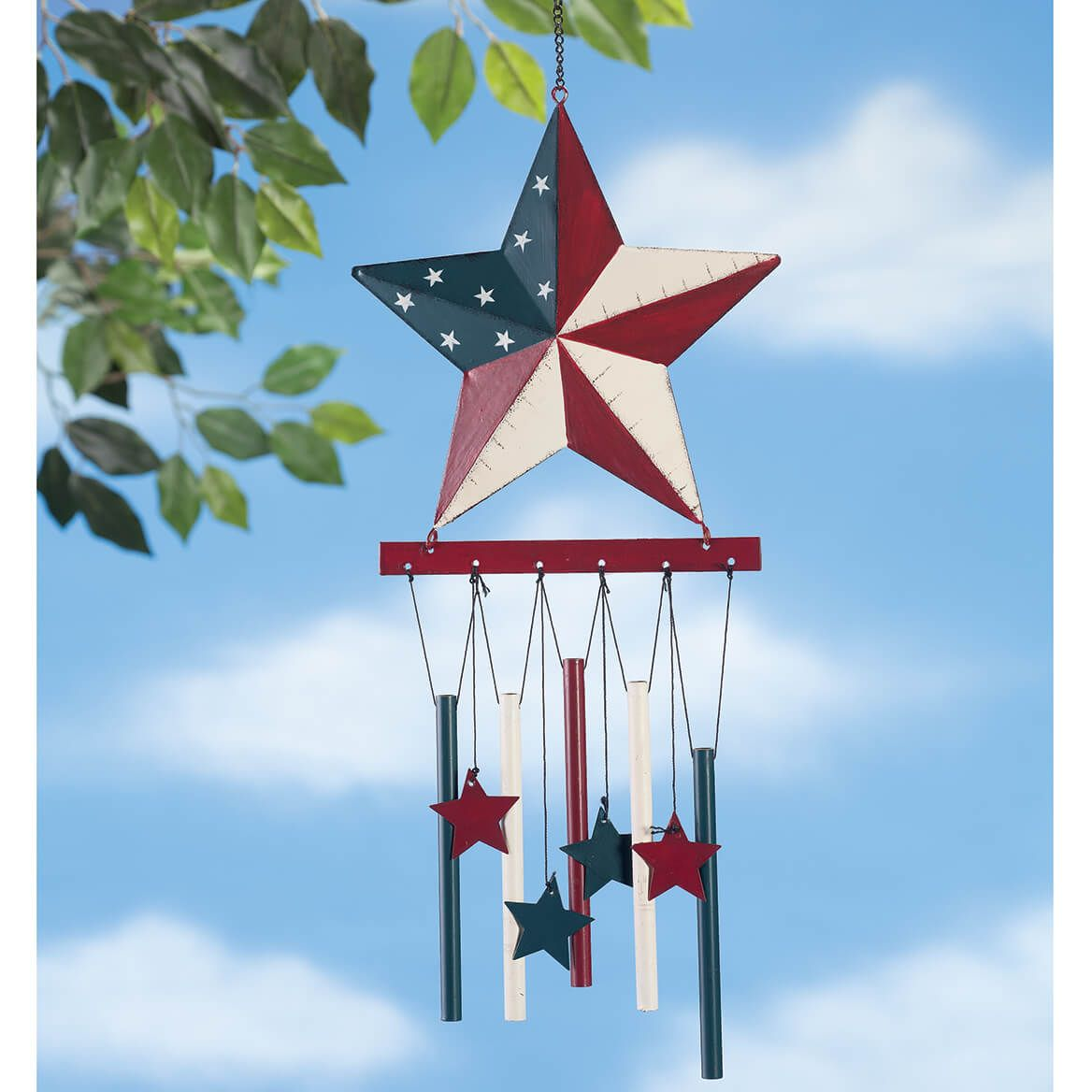 Barn Star Wind Chime by Fox River Creations™-351101