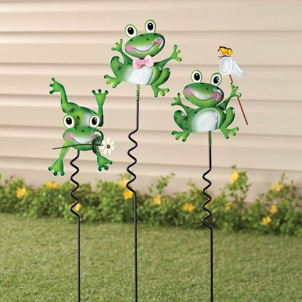 Frog Lawn Stakes by Fox River™ Creations, Set of 3-351184