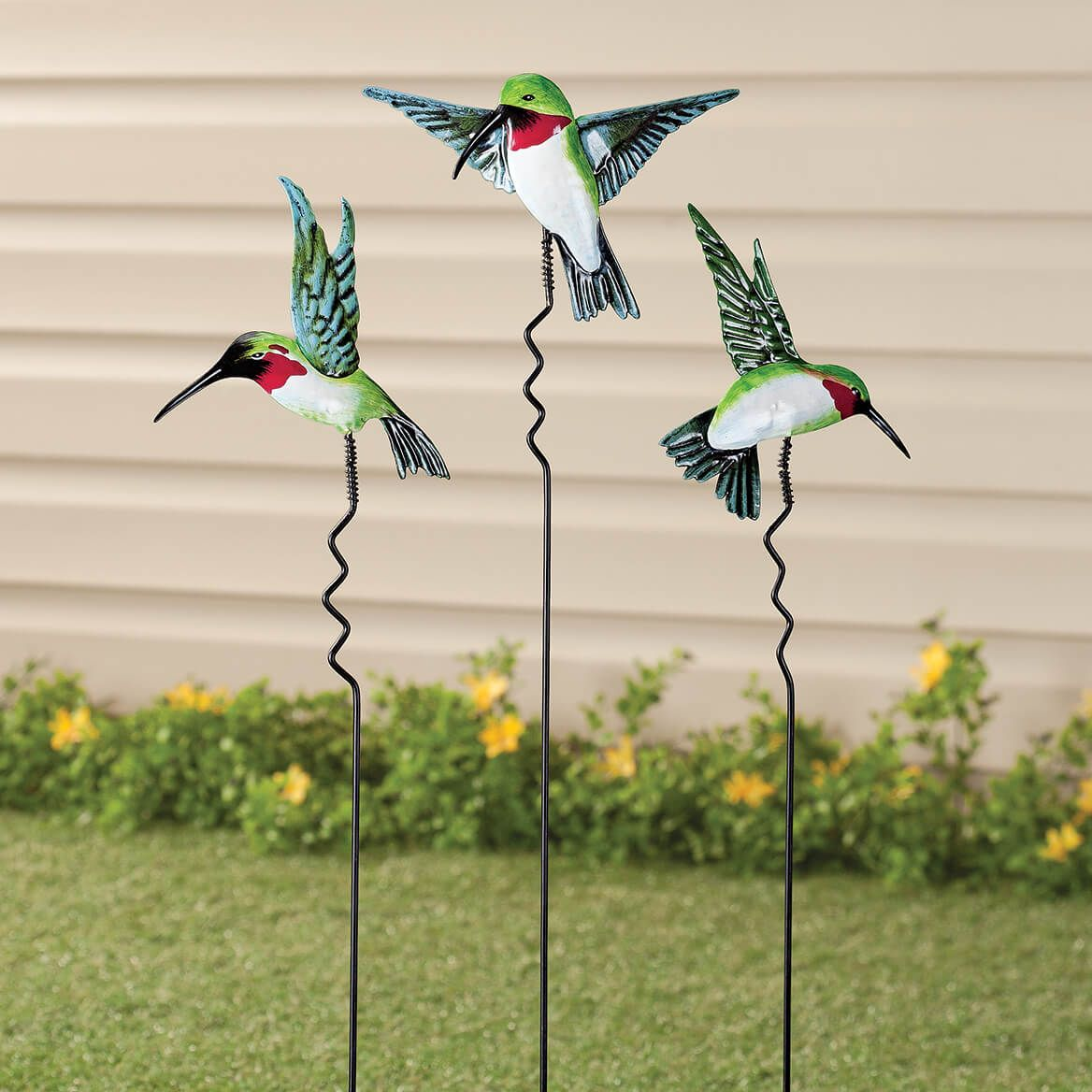 Hummingbird Lawn Stakes Set of 3 by Fox River Creations™-351185