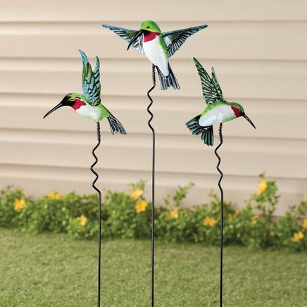 Hummingbird Lawn Stakes by Fox River™ Creations, Set of 3-351185
