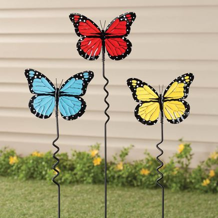 Butterfly Lawn Stakes by Fox River™ Creations, Set of 3-351186
