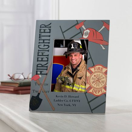 Personalized Firefighter Decorative Photo Frame-351318