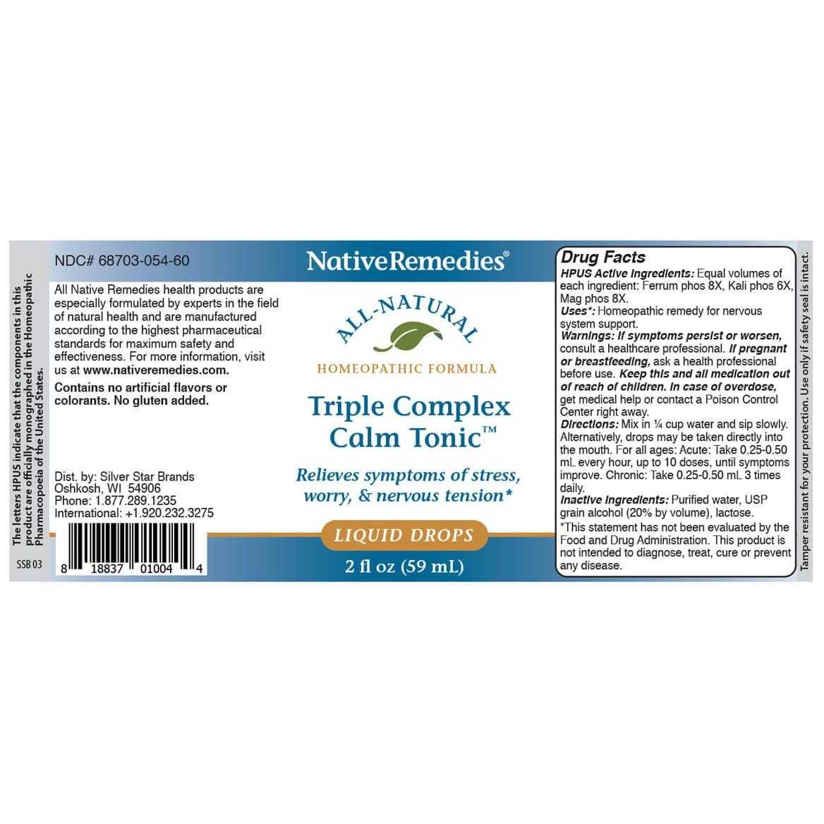 NativeRemedies® Triple Complex Calm Tonic™-351841
