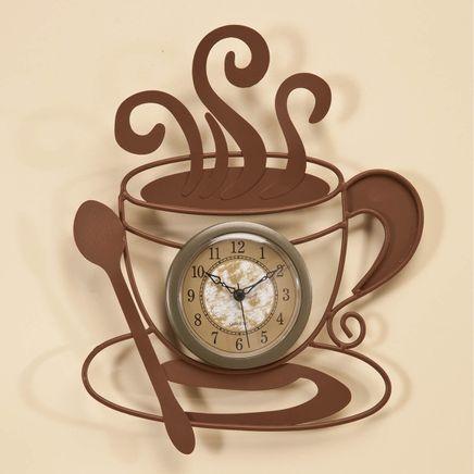 Metal Coffee Cup Clock-352016