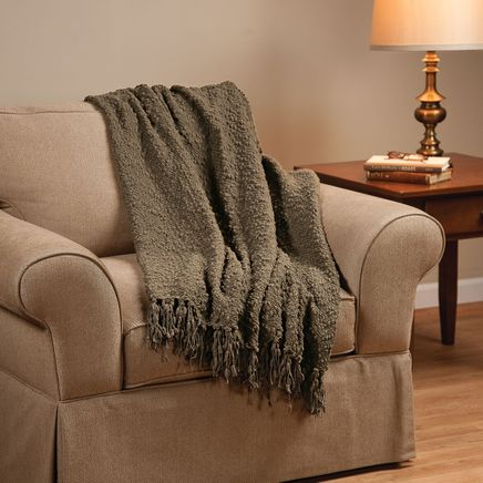 The PomPom Yarn Throw by OakRidge™-352436