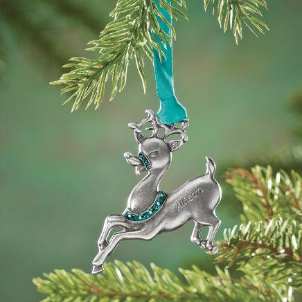 Personalized Reindeer Birthstone Ornament-353089