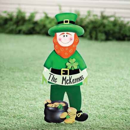 Personalized Leprechaun Lawn Stake by Fox River™ Creations-353627