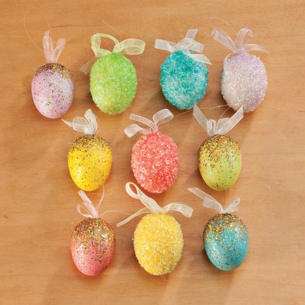 Easter Egg Ornaments, Set of 10-354105