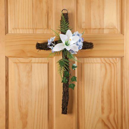 Grapevine Easter Cross-354106