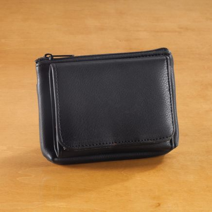 RFID Pebble Wallet, Black-354491