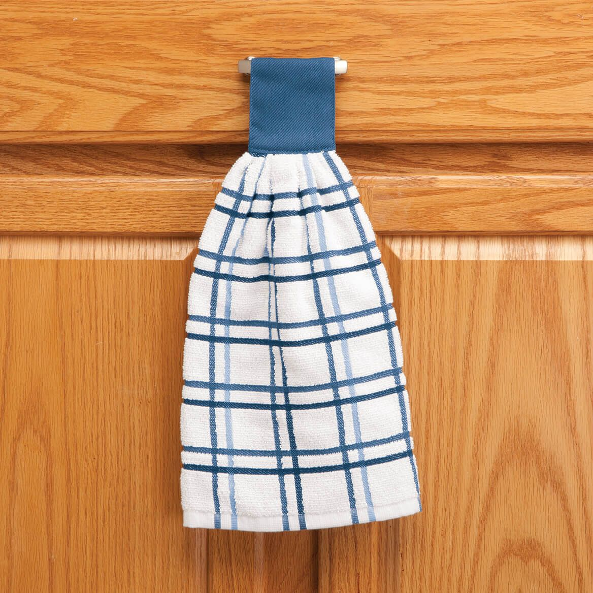 Cotton Hanging Towels - Checked-354570