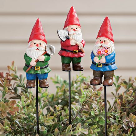 Gnome Planter Stakes by Fox River™ Creations - Set of 3-354599