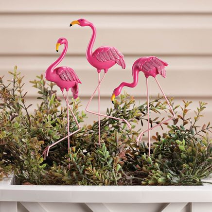 Resin Flamingo Planter Stakes by Fox River™ Creations, Set of 3-355088