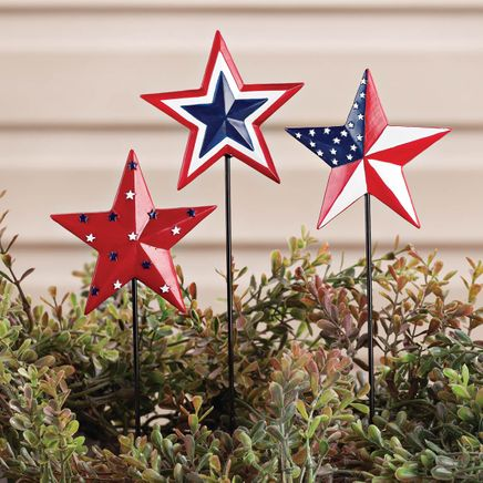Barn Star Planter Stakes by Fox River™ Creations, Set of 3-355175