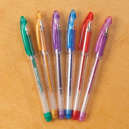 Scented Glitter Gel Pens, Set of 6-355610