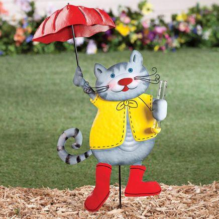 Metal Cat Rain Gauge by Fox River Creations™-355616
