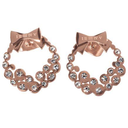 Diamond Look Holiday Wreath Earrings-355690