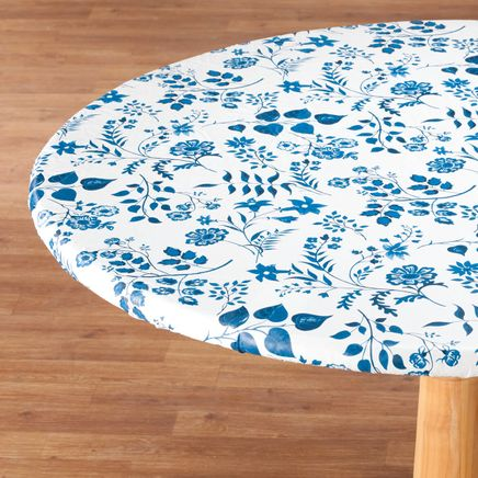 Flowing Flowers Vinyl Elasticized Table Cover By Home-Style Kitchen™-355908