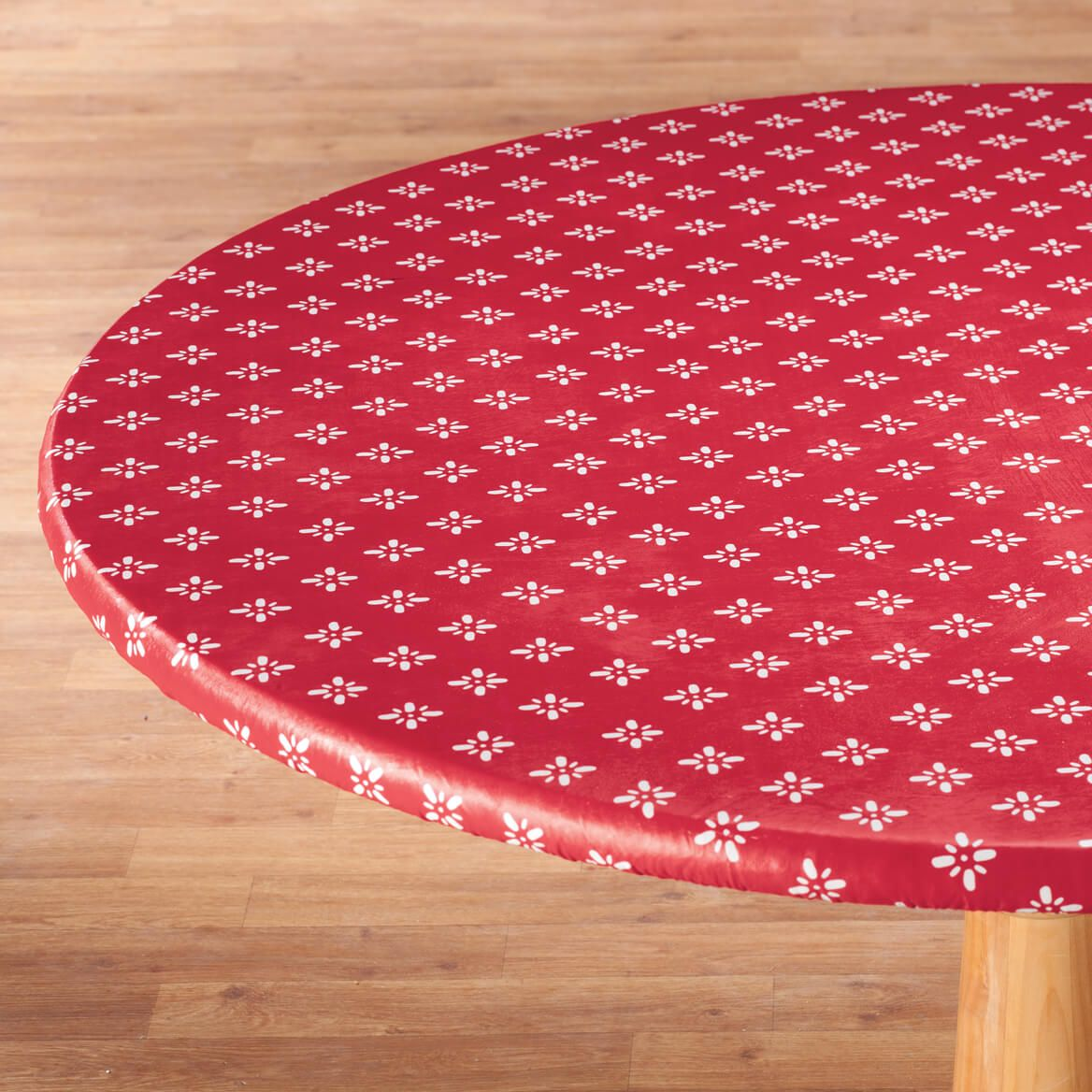 Heritage Vinyl Elasticized Tablecovers By Home-Style Kitchen™-355910