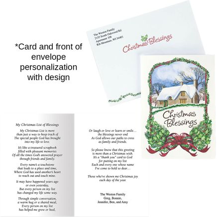 Personalized Christmas Blessings Card Set of 20-356003