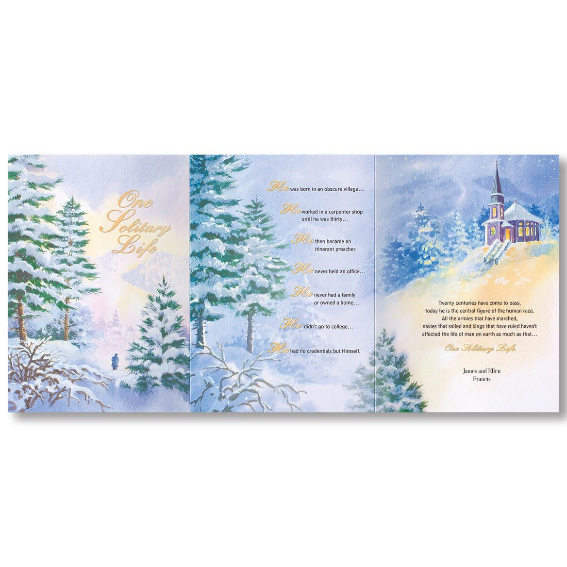 Personalized One Solitary Life Christmas Card Set of 20-356041
