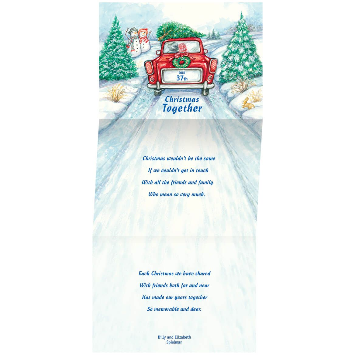 Personalized Our Years Together Christmas Card Set of 20-356048