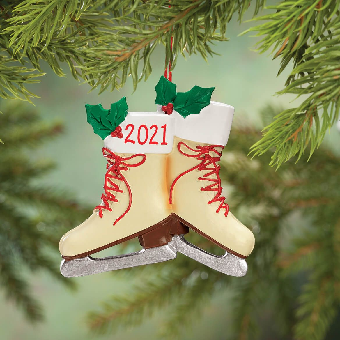 Personalized Vintage Skates Ornament-356112