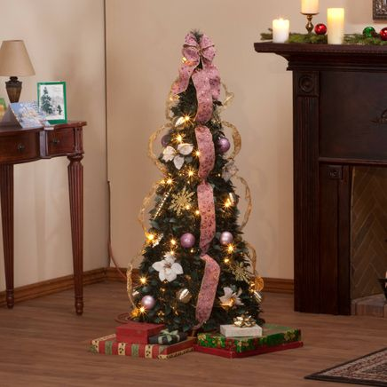 4-Foot Fully Decorated Victorian Pull-Up Tree by Holiday Peak™-356212