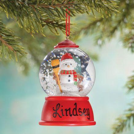 Personalized Snowman Waterglobe Ornament-356232