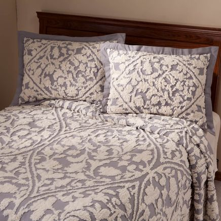 The Kate Pillow Sham with Chenille Tufting-356275